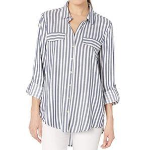 Alexander Jordan striped long sleeve blouse